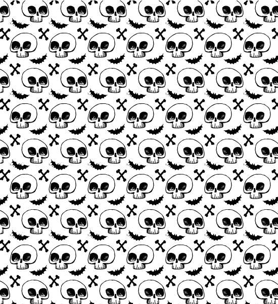 handdrawn-skull-pattern