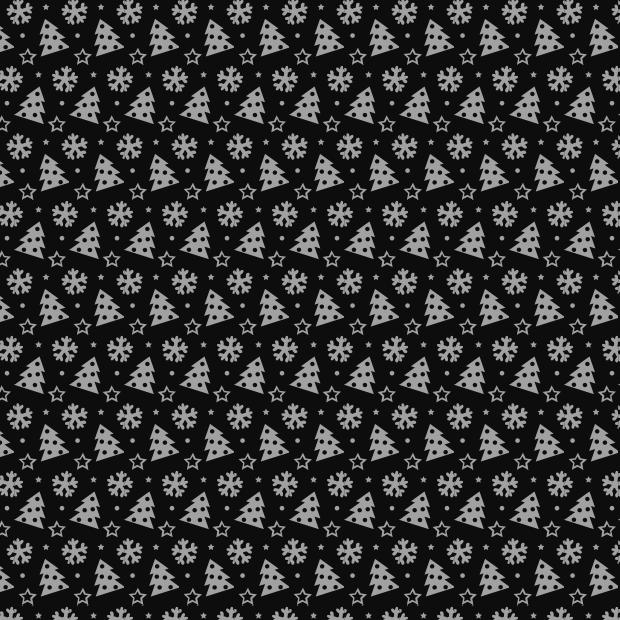black-christmas-pattern