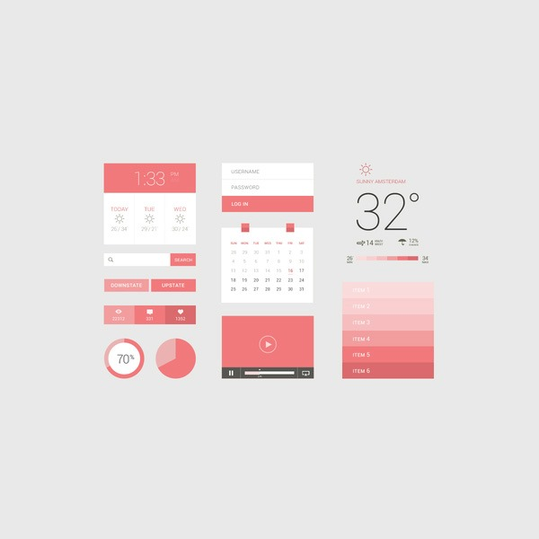 flat-pink-ui-kit