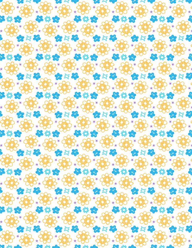 yellow-and-blue-handrawn-petal-pattern