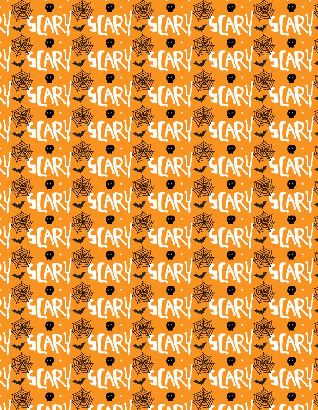 scary-halloween-pattern-simple-orange