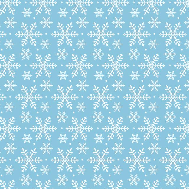 blue-winter-snowflake-pattern