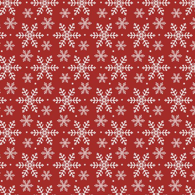 red-snowflake-pattern