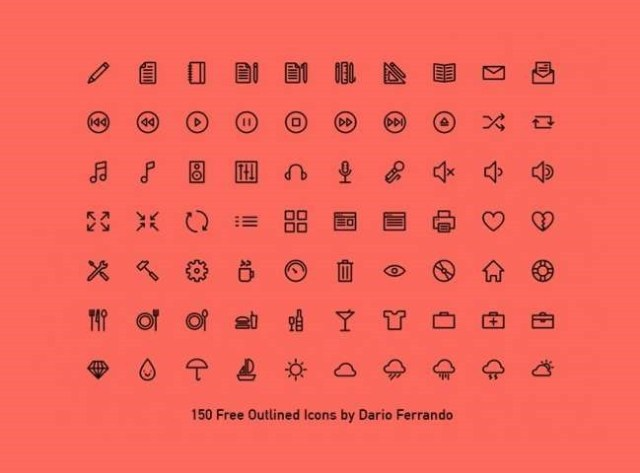 40outlined-icons