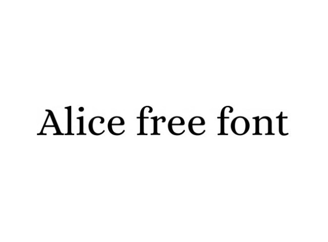 alice-free-font