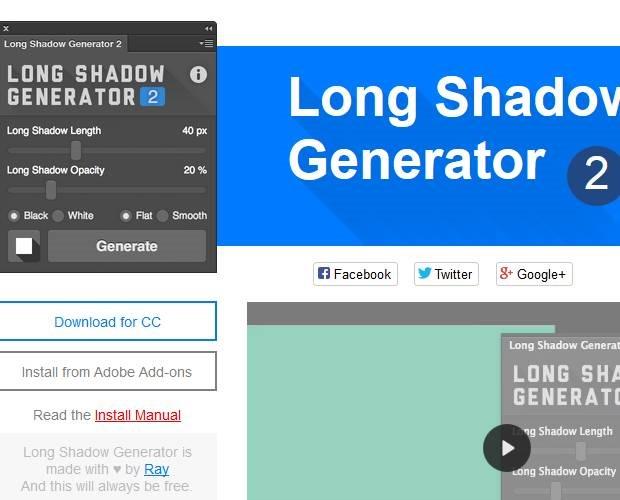 long-shadow-icon-set