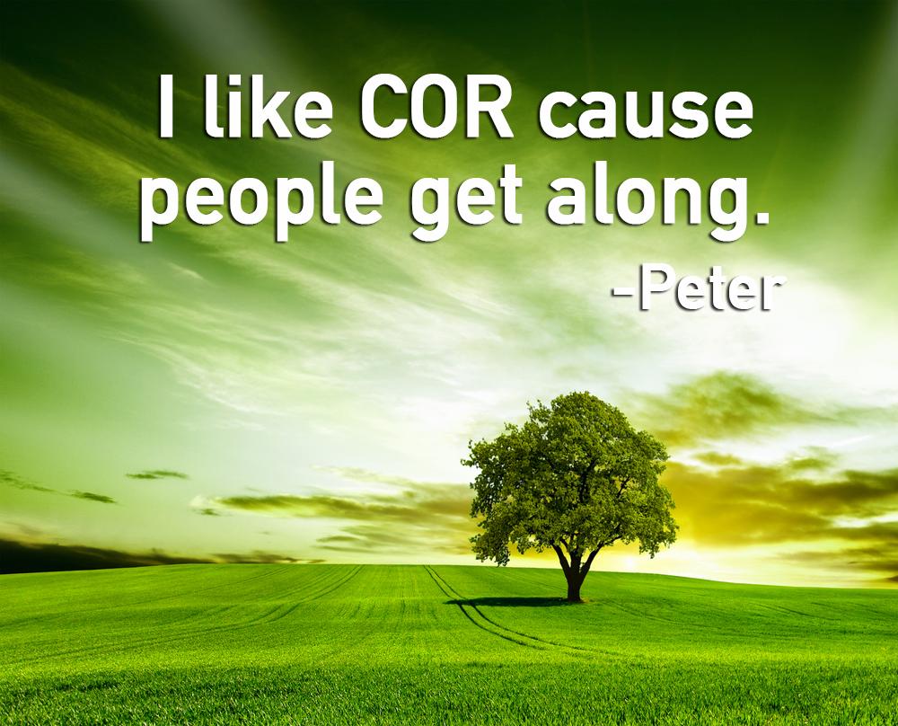 I like cor because people get along