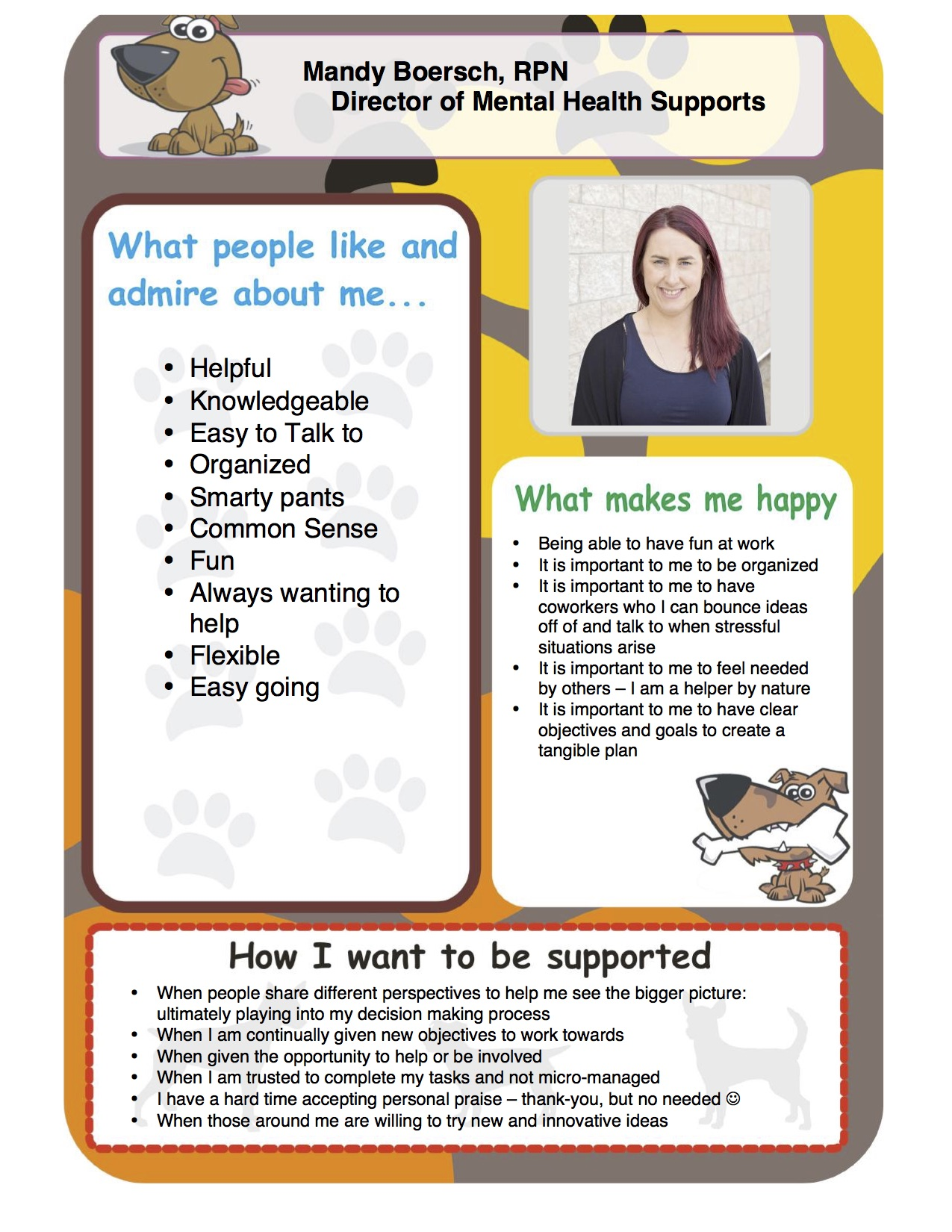 Mandy One Page Profile