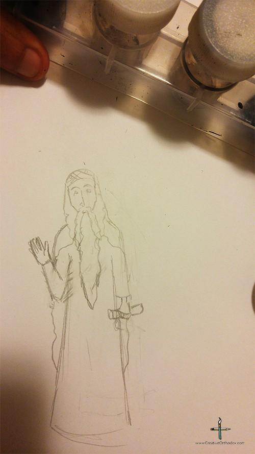 Saint Isaac the Syrian drawing