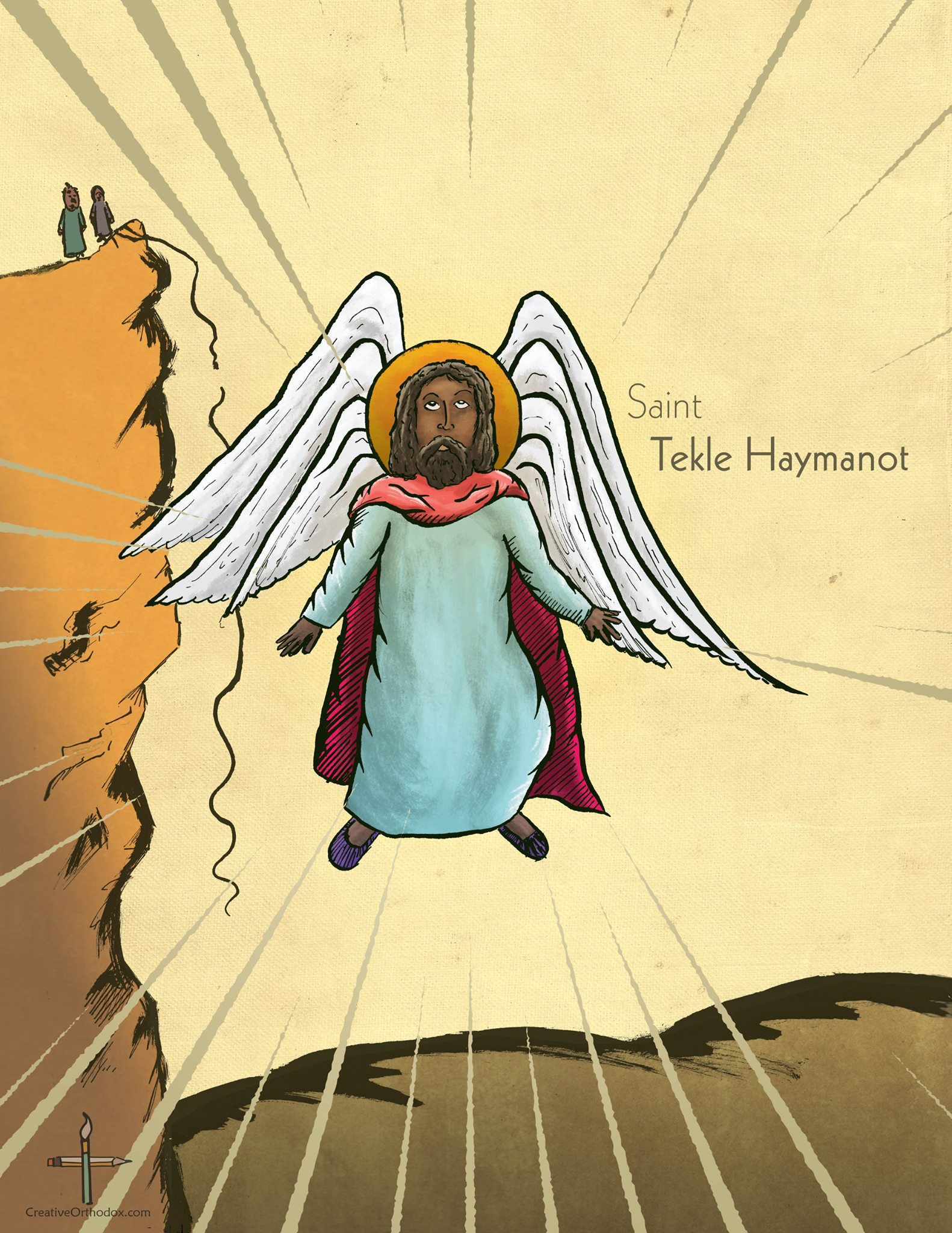 Orthodox illustration of the great Ethiopian Saint Takla Haymanot