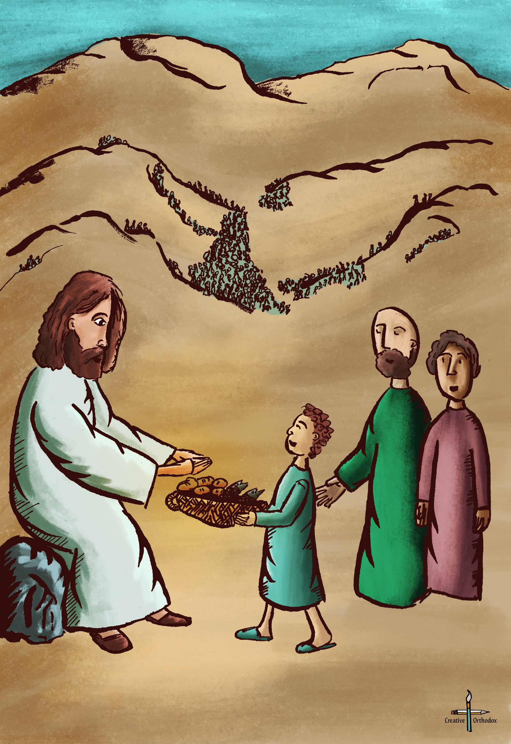 Christ Feeding the 5000