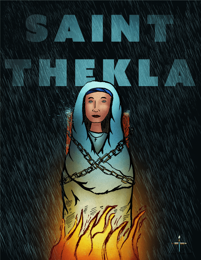 Illustration of Saint Thekla