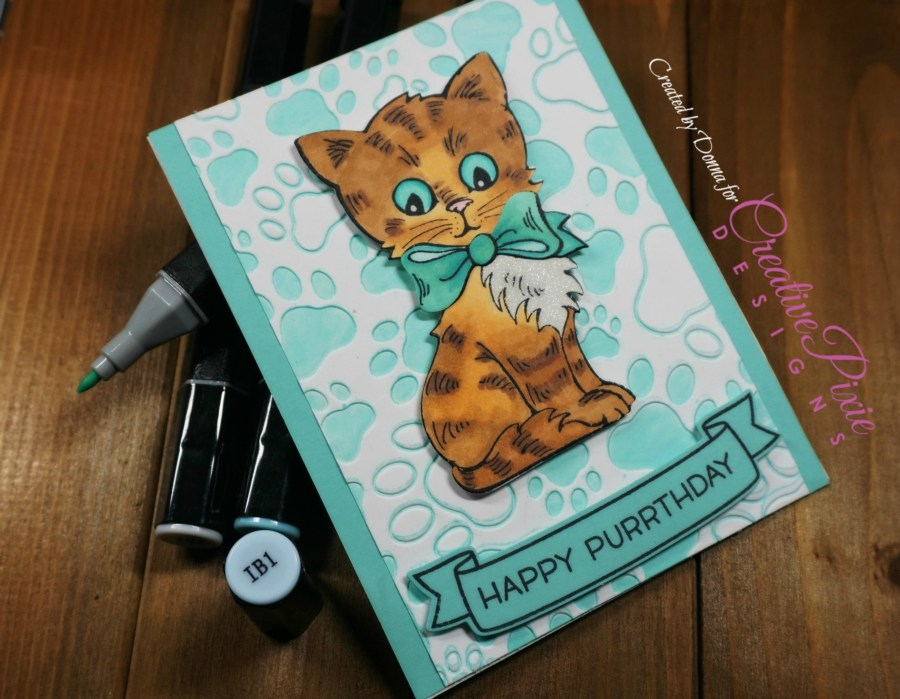 Kittie inspired handmade birthday card