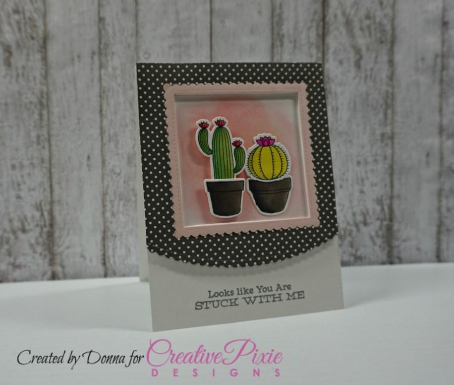 My Favorite Things Sweet Succulents handmade card colored using Spectrum Noir Markers.