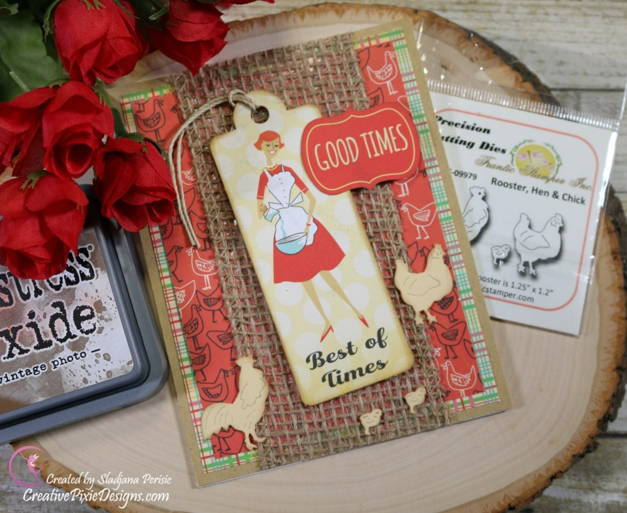 Scrapping For Less May FOTM Card Kit In the Country Side featuring Country Kitchen by Carta Bella papers and ephemera.