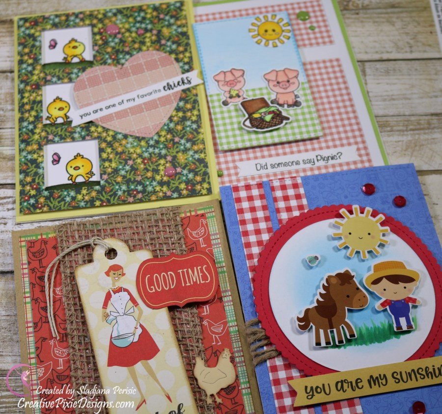 Scrapping For Less May FOTM Card Kit In the Country Side