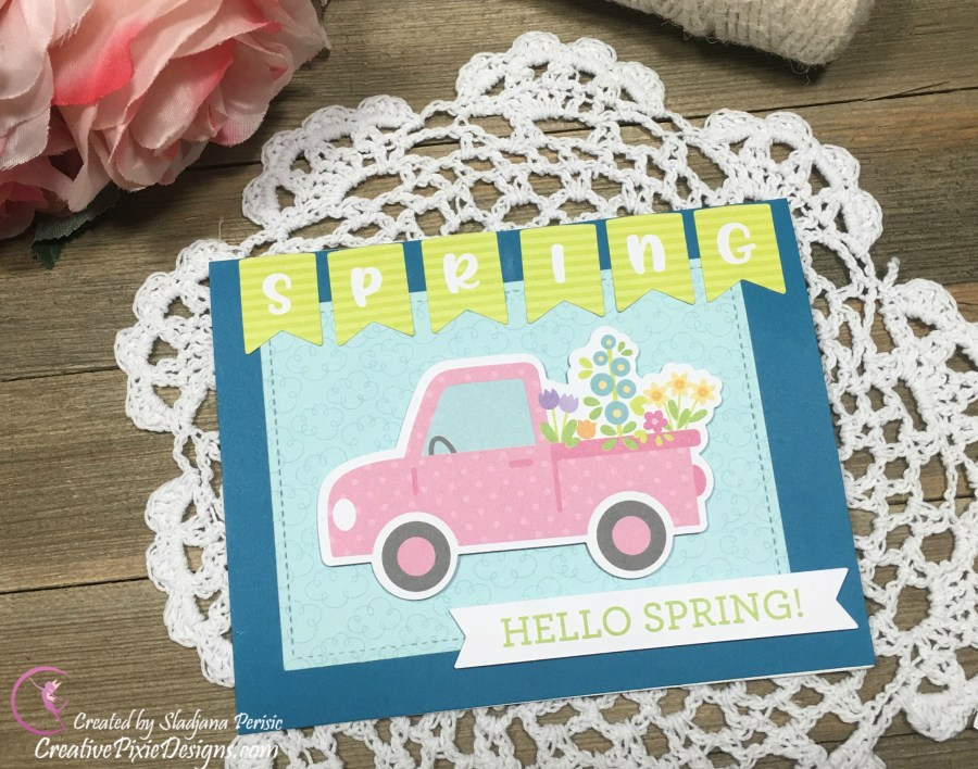 Doodlebug Simply Spring Collection handmade card.