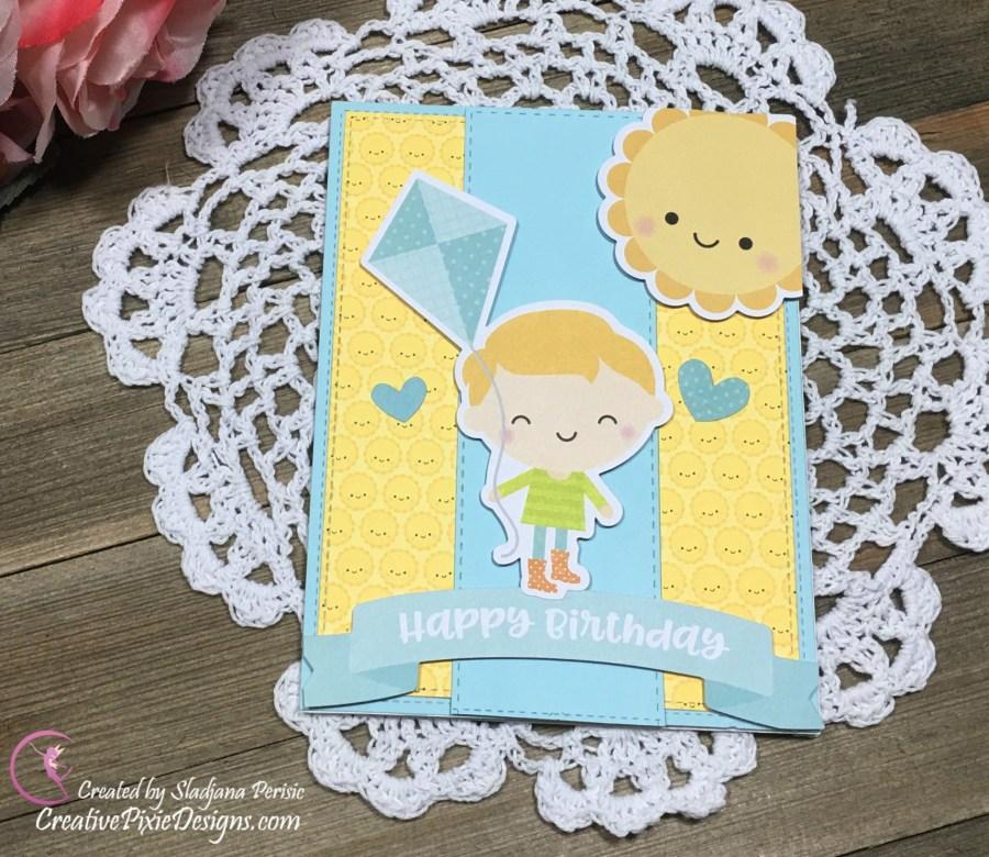 Doodlebug Simply Spring Collection handmade card.