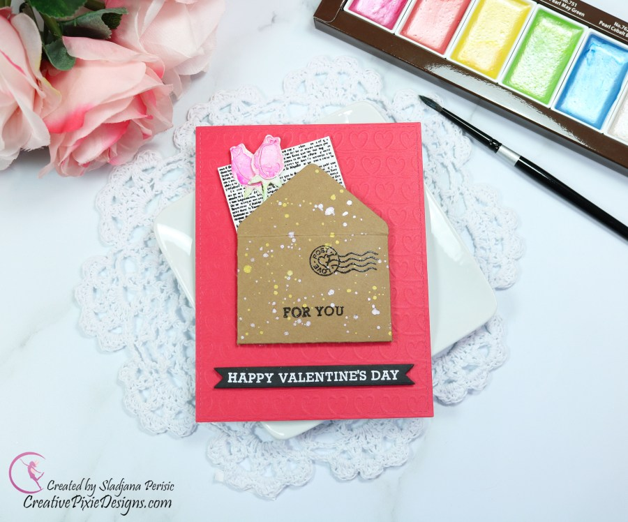 kraft-envelope-and-watercolored-roses