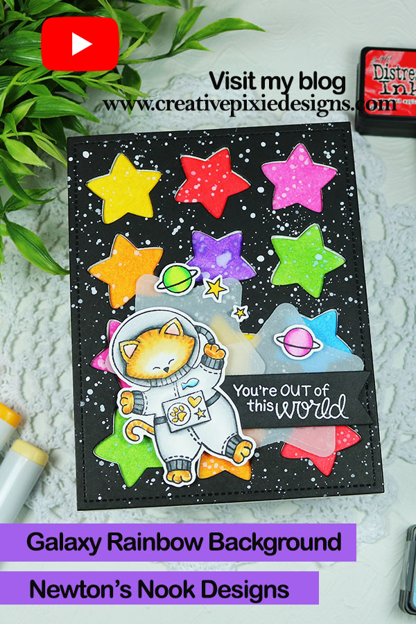 Newton's Nook Designs Cosmic Newton and Mama Elephant Star Grid Die