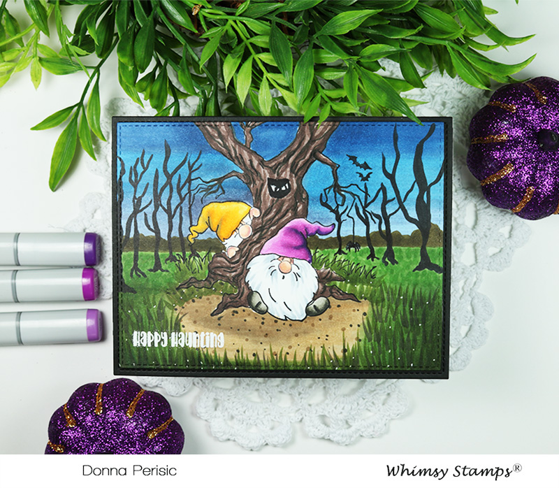 Whimsy Stamps Gnome Haunted Forest