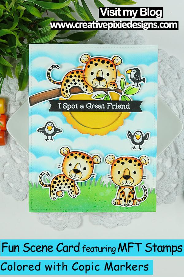 MFT Stamps Lovable Leopard Pin