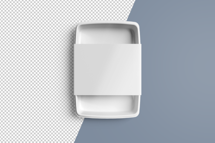 Blank Disposable Food Container Mockup