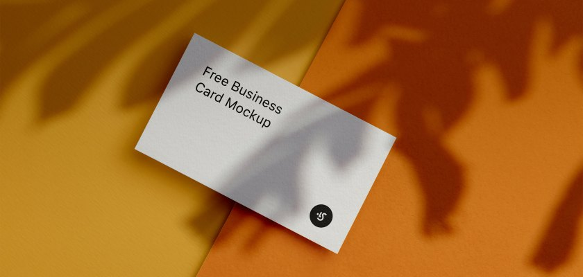 Free PSD Business Card Material design Mockup