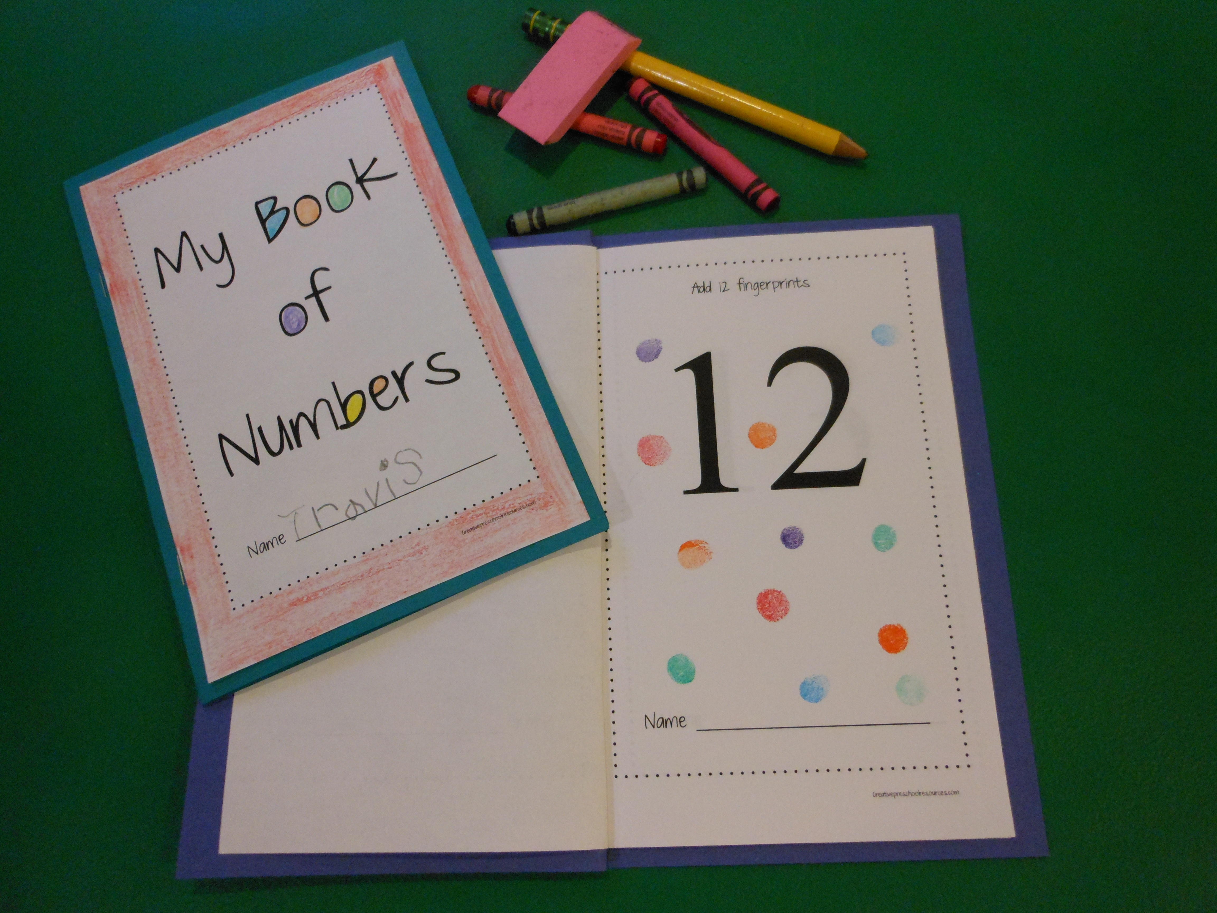 Make Your Own Tactile Number Book