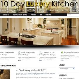 Web Site Design-10 Day Luxury Kitchen, WordPress Theme