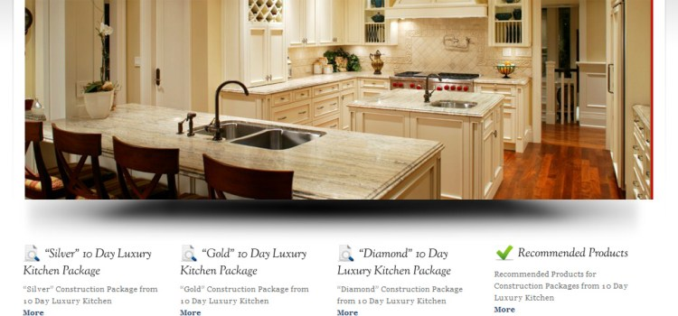 Web Site Design-10 Day Luxury Kitchen, WordPress Theme