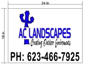Creative Print Web Design-Custom Project Signs-AC Landscapes Sign Mockup