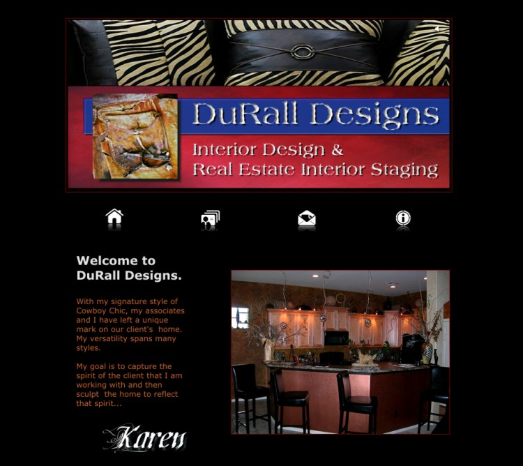 Custom Website-DuRall Designs-Website Page