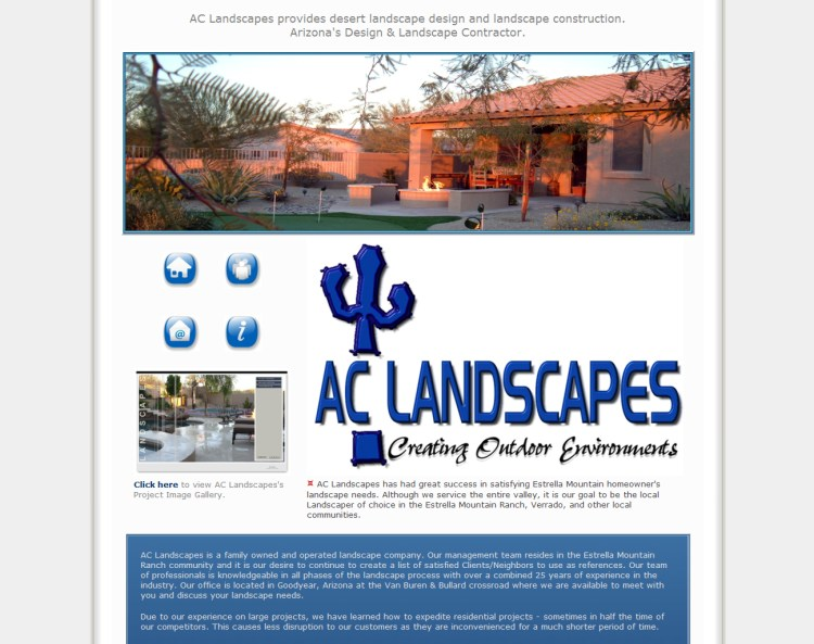 AC Landscapes-Wordpress Theme Website Page