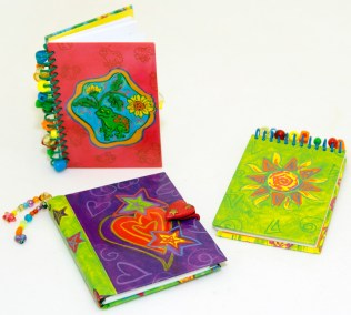 Printed Beaded Notebooks