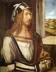 durer, autoritratto a 26, 1498, Madrid, Museo del Prado