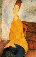 modigliani, Jeanne Hébuteme col maglione giallo, 1818-19, NY, Guggenhim Museum