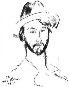 modigliani, ritratto di Léopold Zborowski, 1937, Troyes, museo delle belle arti