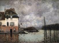 sisley, inondazione a port-marly, 1876, parigi, museo d'orsay