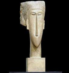 Una-scultura-di-Modigliani