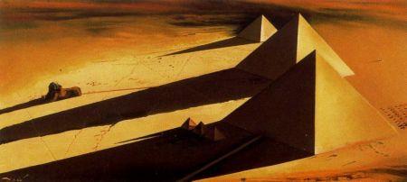 dalì, le piramidi e la sfinge di giza, 1954, coll. priv.