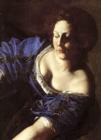 giuditta e oloferne, 1611-12 napoli museo di capodimonte - dett.