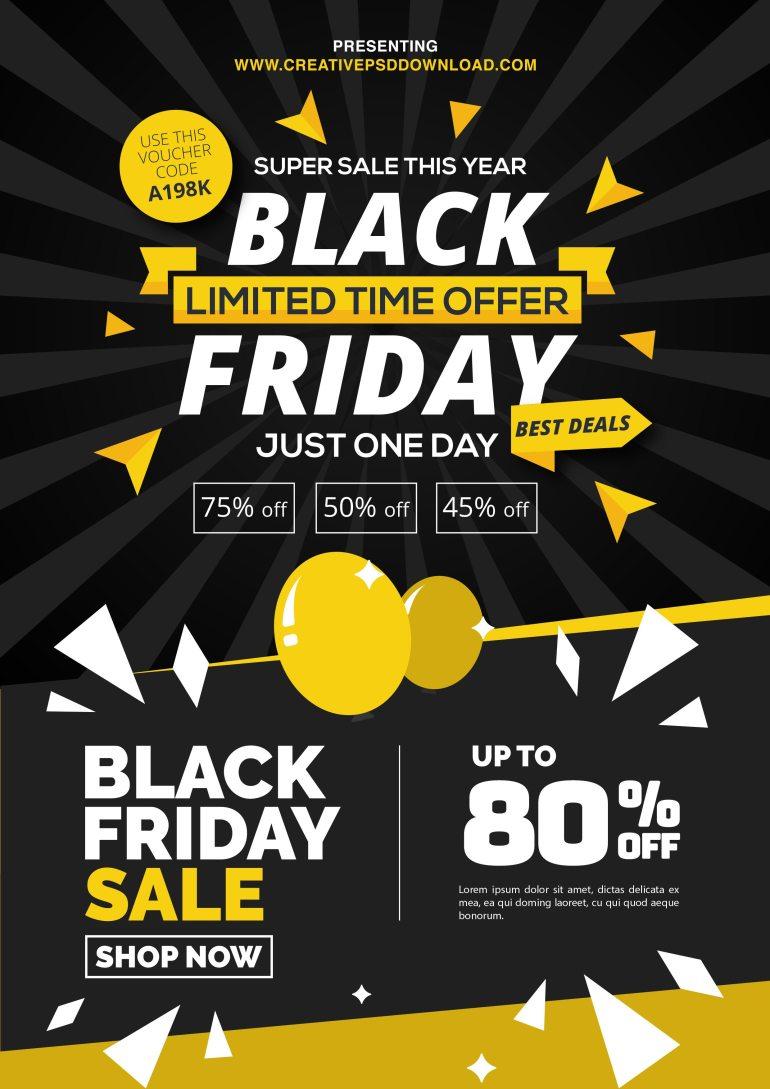 Free Black Friday Sale Promotion Flyer