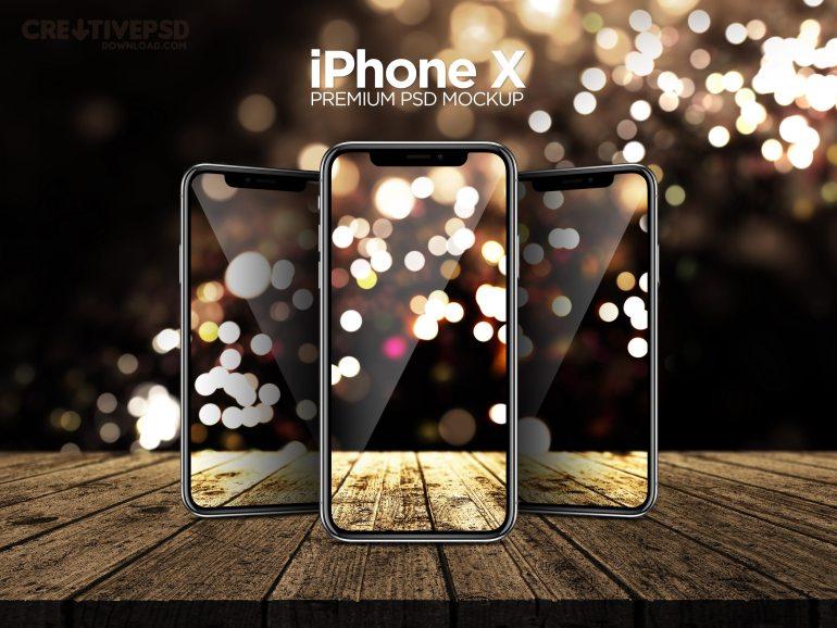 iPhone X Premium PSD Mockup