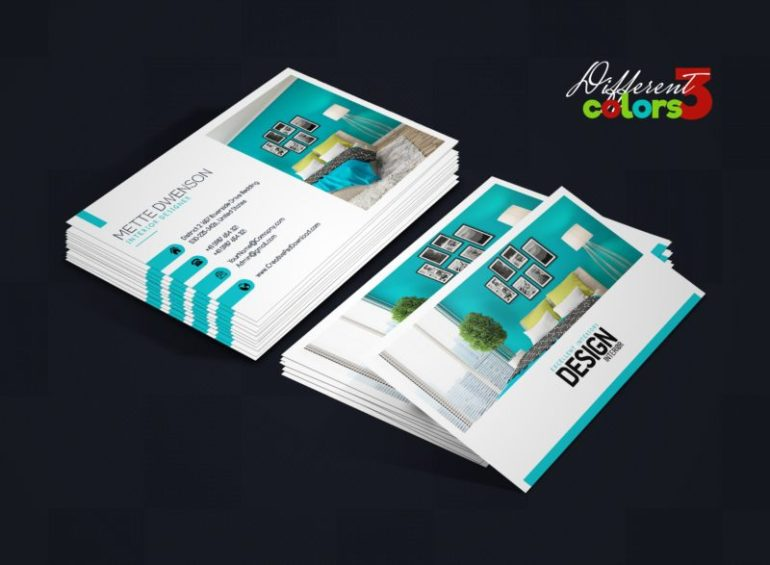 Interior Design Business Card PSD Bundle