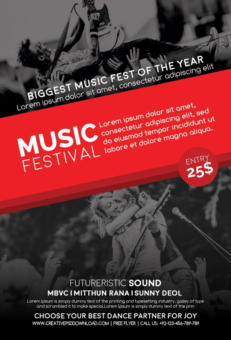 Music Festival Free Flyer PSD