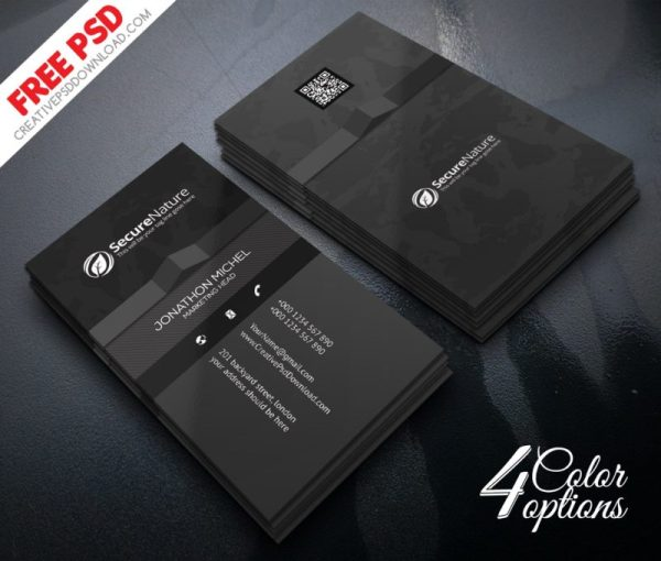 Corporate Creative Business Card PSD Freebie