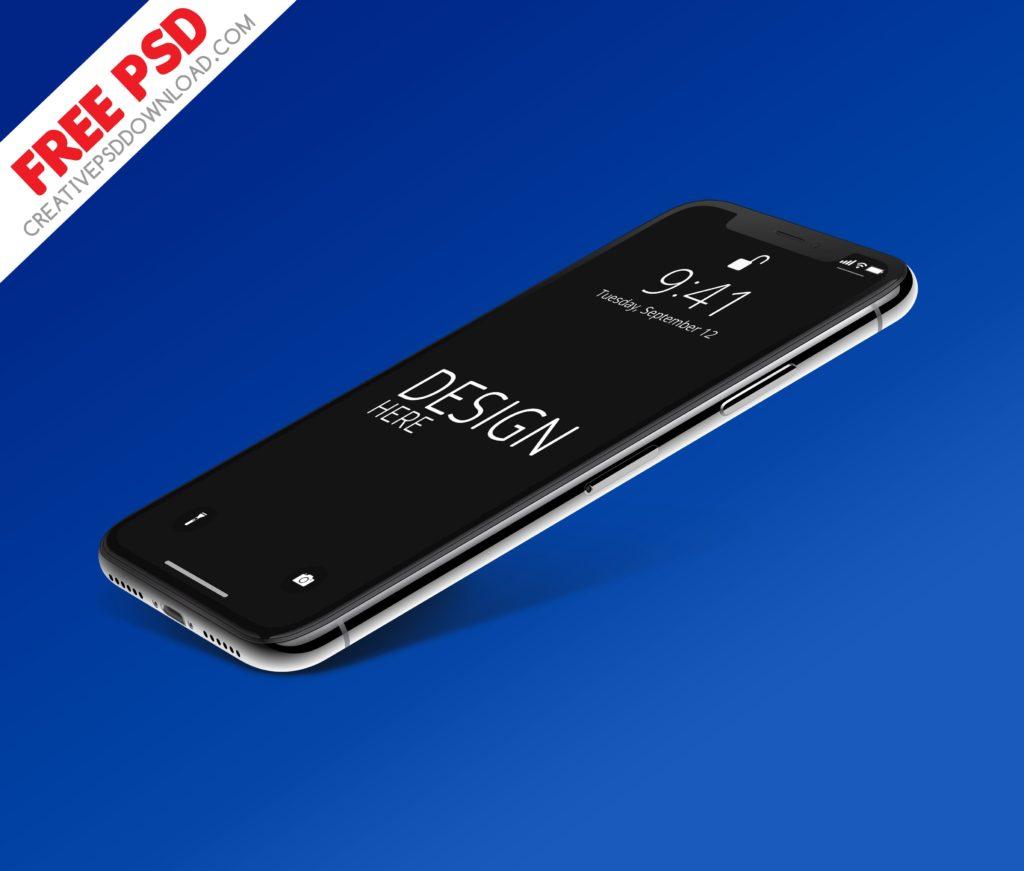 New iPhone-X PSD Mockup Freebie