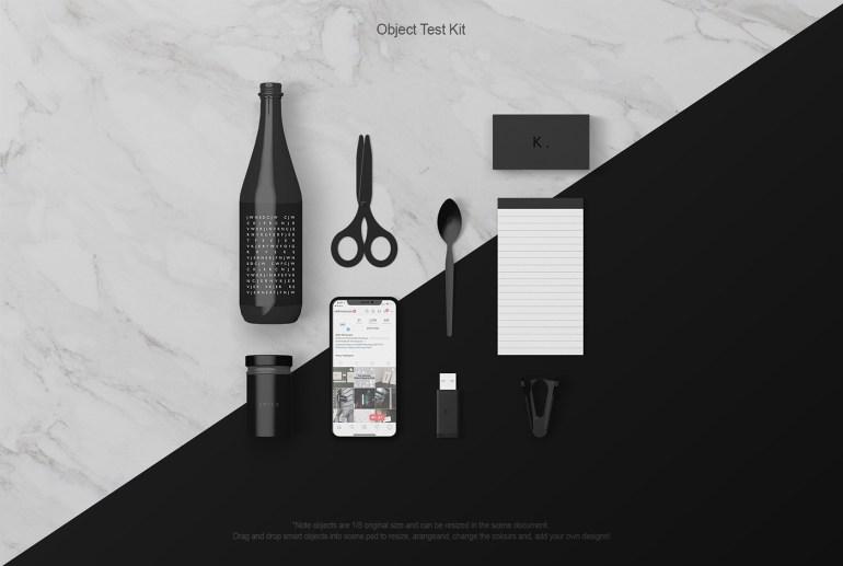 Various Desk Objects Mockups