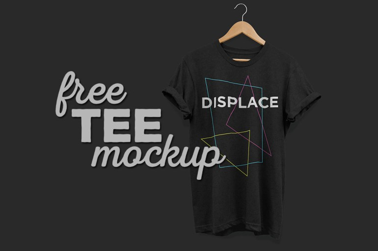 T-Shirt with rolled up Sleeves Mockup